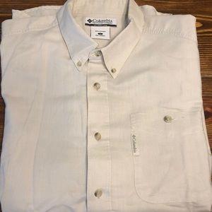 Columbia Tan Button Down Shirt Size L